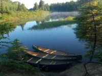 Peaceful canoes