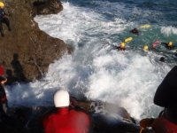 Coasteering at Beadnell