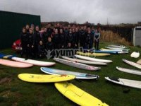 Surfing is a great group activity