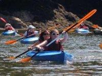 River kayaking Cornwall