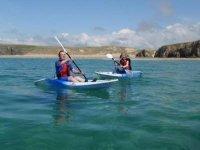 Kayaking Cornwall along the coast