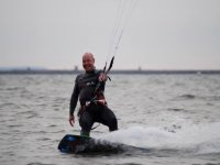 Exciting kitesurfing