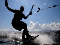 Wakeboarder´s shadow