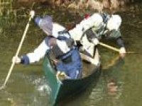 Canoeing teamwork