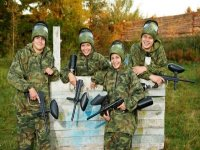 Paintballing soliders