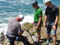 Abseiling on the Cornish coast