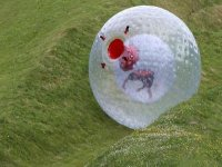 Zorbing down our course