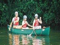 Enjoy a paddle in our canoes
