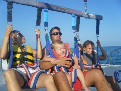 Double parasailing ride in Calella