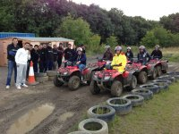 Getting ready to go quad biking