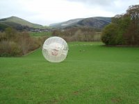 Zorbing is loads of fun.