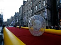 Zorbing in Edinburgh!