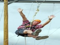 Adult ziplining