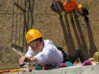 wall climb boy