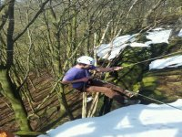 Abseiling is a great activity.
