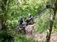Quad biking on dirt tracks