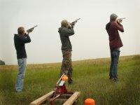 clay pigeon shooting men