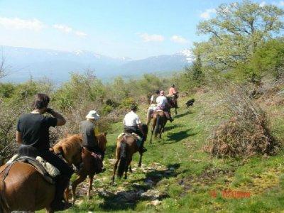 Half journey at horseback in Valle de Lozoya