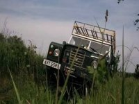 Driving through moorland