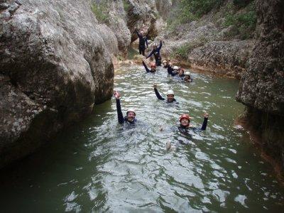 Canyoning in Glorieta river Sierra de Prades