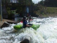 Playing in the raging rapidsç
