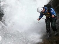 Wet and wild abseiling