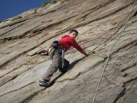 Rock climbing in Devon