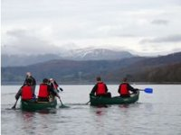 Canoeing in the scenic Lake District
