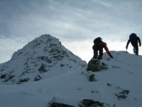 Winter mountain walking