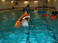 Tandem kayaking is fun.