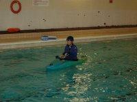 pool kayaking.