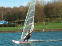Windsurfer whizzing by
