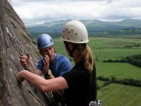 Expert tuition on the rock face