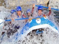 Play in the rapids with this fun rafting day