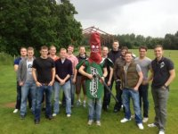 Clay pigeon stag shooting