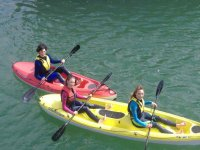 Single and double seater kayaks