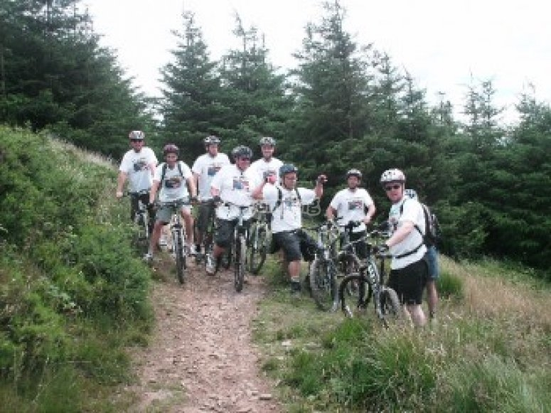 Group mountain bike tour