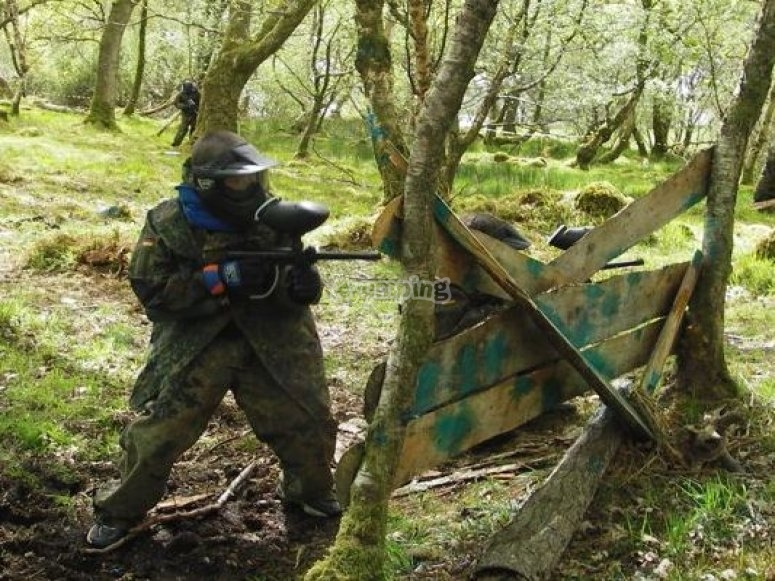 Our paintball battle zone