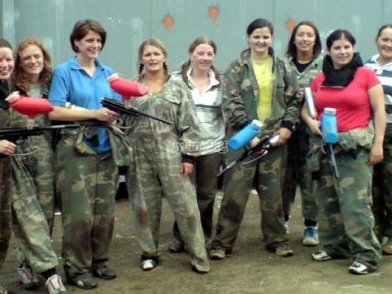 Paintball soliders