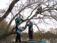 Canoeing and tree climbing