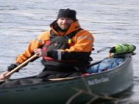 Winter canoeing