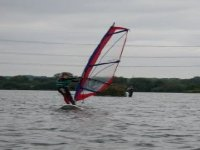 Windsurfing on a cloudy day