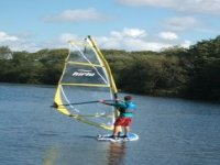 Windsurfing on the lake