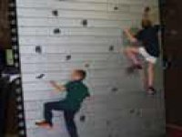 Climb the indoor wall.
