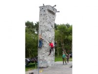 Use the climbing wall.