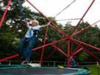 Bungee trampoline.