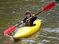 Using a canoe is fun.