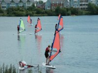 You can also do some windsurfing.