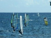 Windsurfing is fun to learn.