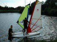 Windsurfing is fun.